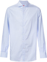 Isaia striped long sleeve shirt