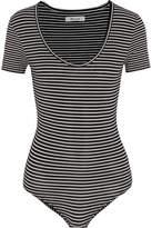 Madewell Striped Stretch Cotton-blend Jersey Bodysuit
