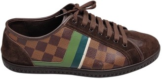 Louis Vuitton Brown Cloth Trainers