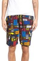 adidas Retro Logo Print Drawstring Shorts