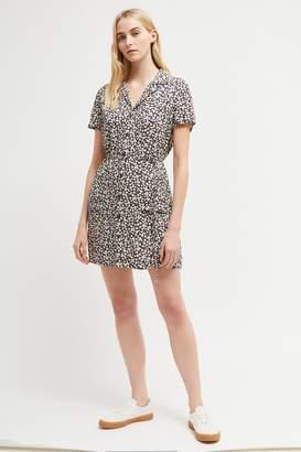French Connenction Aubi Crepe Mini Shirt Dress