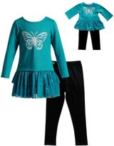 Dollie & Me Girls 4-14 Butterfly Top & Leggings Set