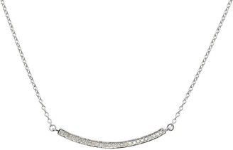 ADORNIA Sterling Silver Mercer Bar Diamond Necklace - 0.30 ctw