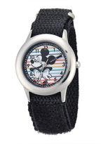 Disney Mickey Mouse Kids Time Teacher Black Nylon Fast Strap Watch