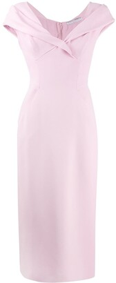 Ermanno Scervino Straight Fit Midi Dress