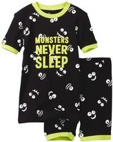 Petit Lem Monsters Never Sleep Pajama - 2-Piece Set (Toddler & Little Boys)