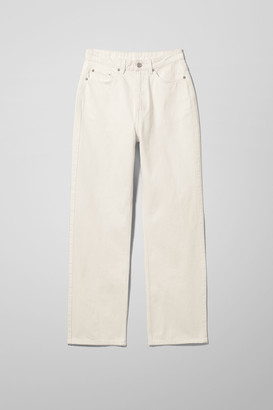 Weekday Rowe Extra High Straight Jeans - White
