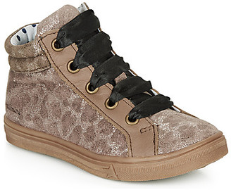 Catimini CALENDULE girls's Shoes (High-top Trainers) in Brown