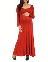 24/7 Comfort Apparel 24-7 COMFORT APPAREL Maxi Dress-Maternity