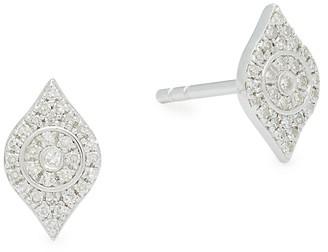 Effy Eye-Shaped Sterling Silver & Diamond Earrings