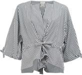 Maison Rabih Kayrouz striped wide sleeve blouse - women - Cotton - 36