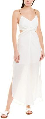 Vix Cutout Linen-Blend Maxi Dress