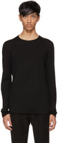 Isabel Benenato Black Ribbed Wool Sweater