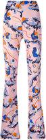 Emilio Pucci printed flared trousers - women - Silk/Viscose - 38