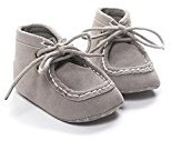 Binmer(TM) New Baby Crib High Help Bandage Shoes Toddler Sneakers Casual Non-slip Shoes (6-12M, Gray)