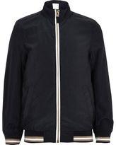 River Island Boys navy sports zip up track jacket