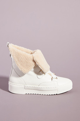 Cecelia New York Julie Wedge Sneaker Boots By in White Size 7