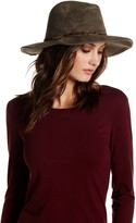 Collection XIIX Faux Suede Panama Feather Hat