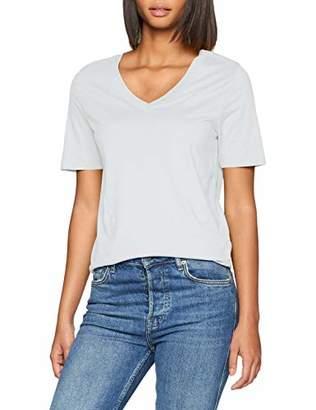 Selected Women's Slfstandard Ss V-Neck Tee Seasonal T-Shirt, Gumdrop Green, 10 (Size: Small)
