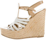 Saint Laurent Multistrap Wedge Sandals