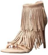 Steve Madden Womens Fringly Peep Toe Special Occasion Platform Sandals.