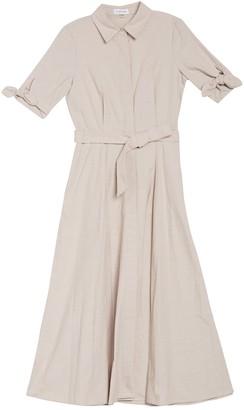 Calvin Klein Dark Denim Maxi Shirt Dress
