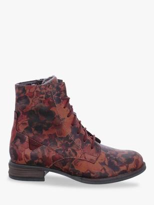 Josef Seibel Sanja 1 Leather Ankle Boots, Carmin