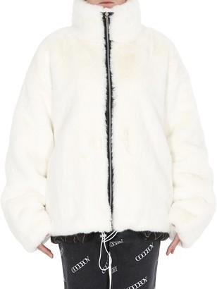 goodboy Big Logo Faux Fur Jacket