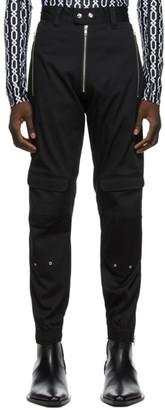 GmbH Black Exposed Zip Yolanda Cargo Pants