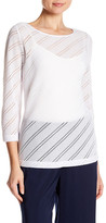 Laundry by Shelli Segal Diamond Knit Blouse