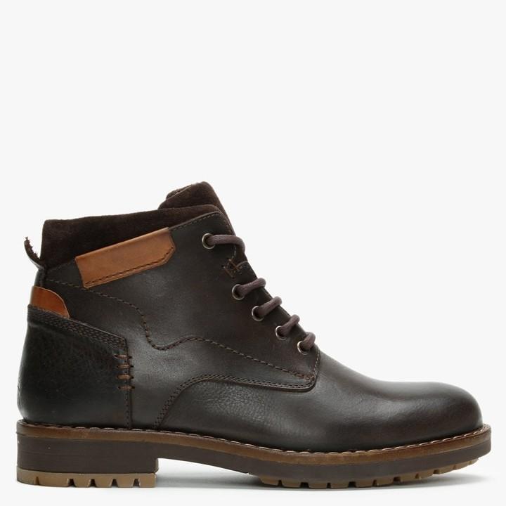 Daniel Shukka Brown Leather Work Boots