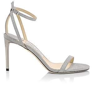 Jimmy Choo Women's Minny Ankle-Strap Glitter Leather Sandals