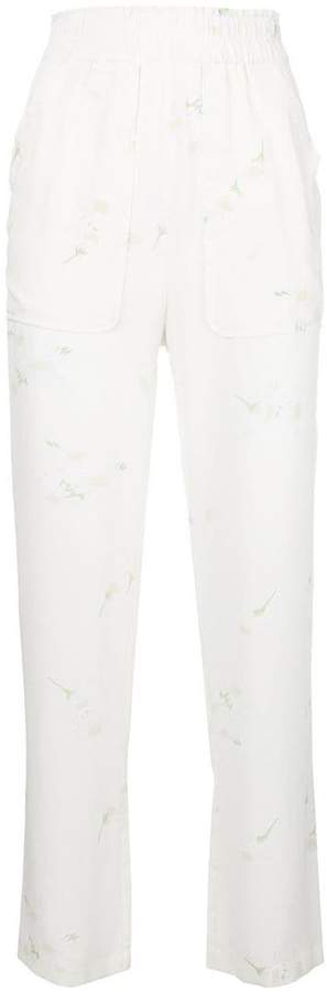 Ganni high-waist fitted trousers
