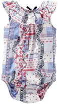 Osh Kosh Woven Bodysuit (Baby) - Print - 3 Months
