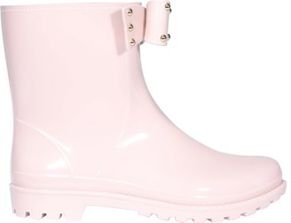 RED Valentino Studded Bow Detail Rainboots