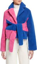 Saks Potts Wrapis Colorblock Shearling Jacket
