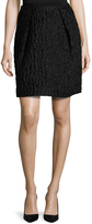 Carven Women's Waffle Texture Above The Knee Skirt