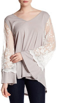 Tassels N Lace Long Lace Sleeve Shirt