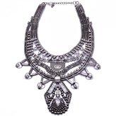 Idealway European Diamond Clavicle Chain Pendant Flower Statement Necklace