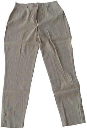 Burberry Camel Linen Trousers