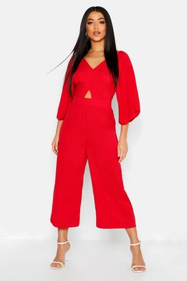 boohoo Kimono Sleeve Culotte Jumpsuit