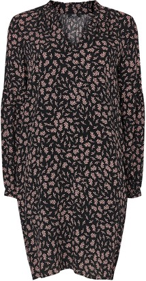 Wallis Black Leaf Print Shift Dress