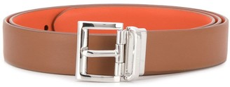 Prada Silver-Tone Buckle Belt