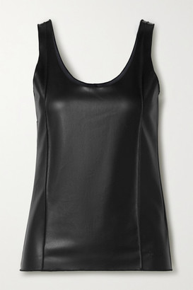 Peter Do Faux Leather Tank Top - Black