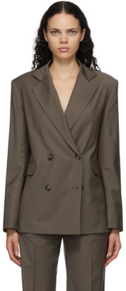 LOULOU STUDIO Grey Tatakoto Double Breasted Blazer