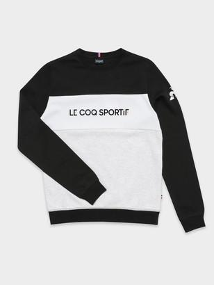 Le Coq Sportif Timon Pullover Sweat in Black