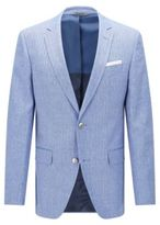 Hugo Boss Hutsons Slim Fit, Italian Wool Linen Sport Coat 42L Blue