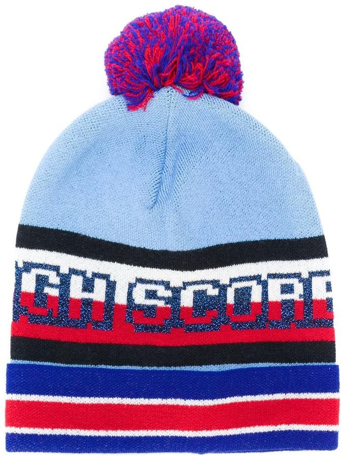 de4696eb9 colour-block beanie hat