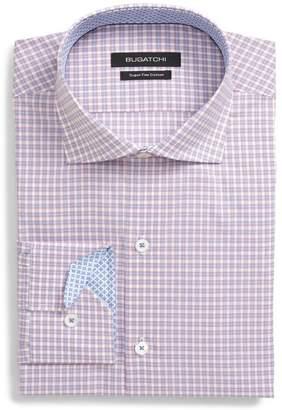 Bugatchi Trim Fit Check Dress Shirt