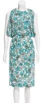 Thakoon Floral Print Midi Dress